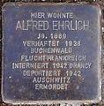 Stolperstein Arnstadt Thomas-Mann-Straße 15-Alfred Ehrlich.JPG