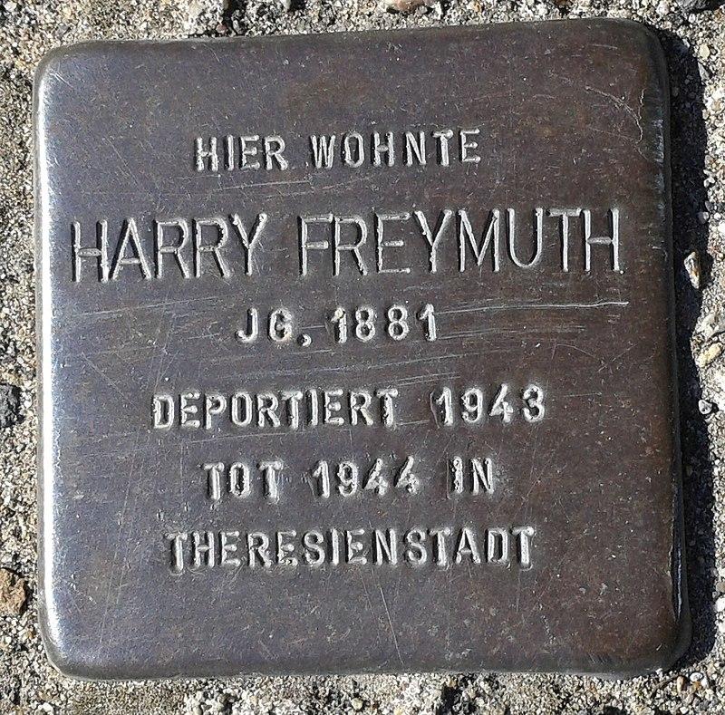 Stolperstein Bergisch Gladbach Hüttenstraße 40 Harry Freymuth