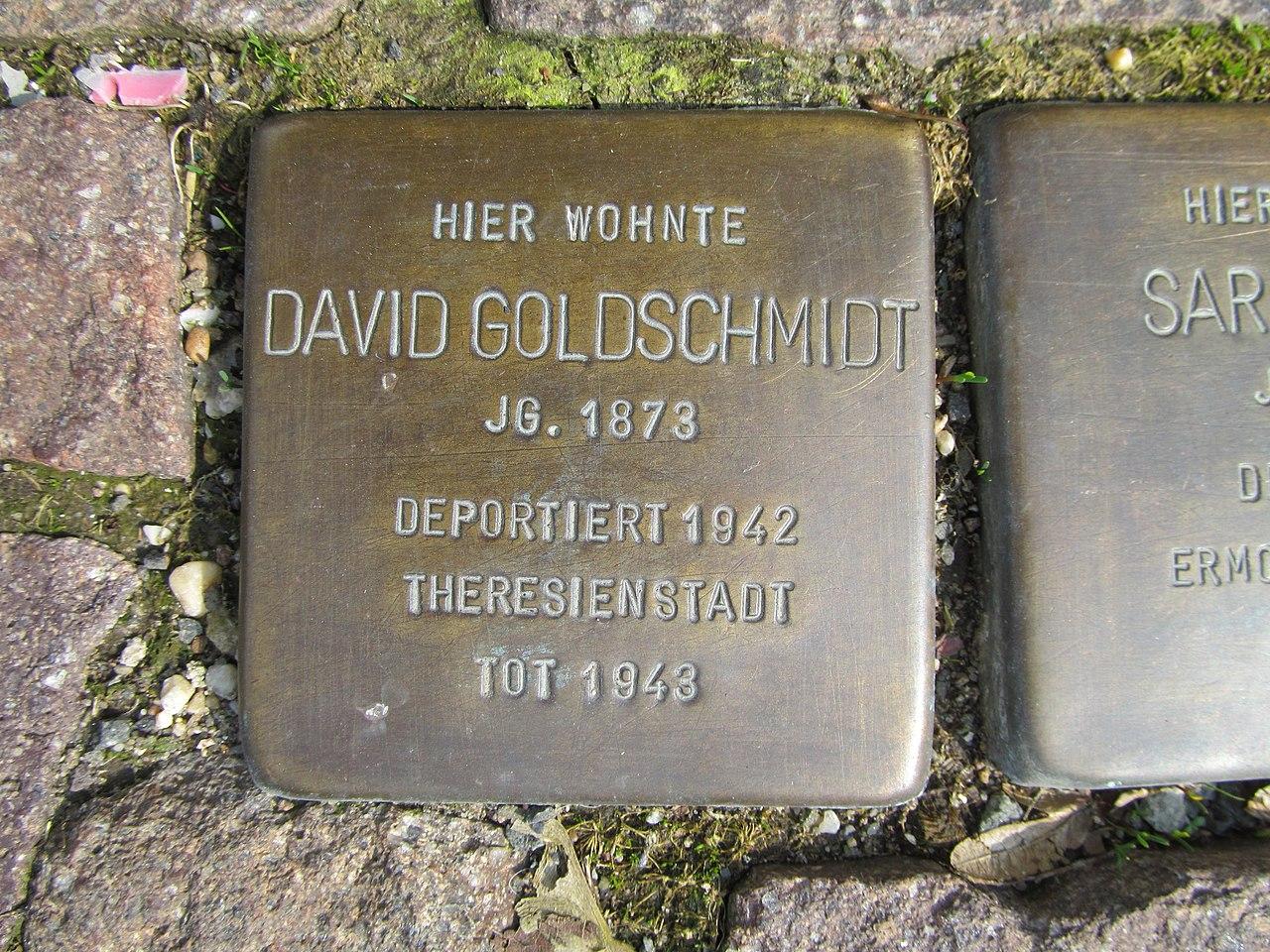 Stolperstein David Goldschmidt, 1, Pferdemarkt 8, Frankenberg, Landkreis Waldeck-Frankenberg.jpg