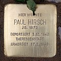 Stolperstein Hektorstr 15 (Halsee) Paul Hirsch.jpg