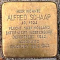 Stolperstein Kleve Pannofenstraße 5 Alfred Schaap.jpg