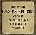 Stolperstein für Hans Jakob Gutkind (Cottbus).jpg