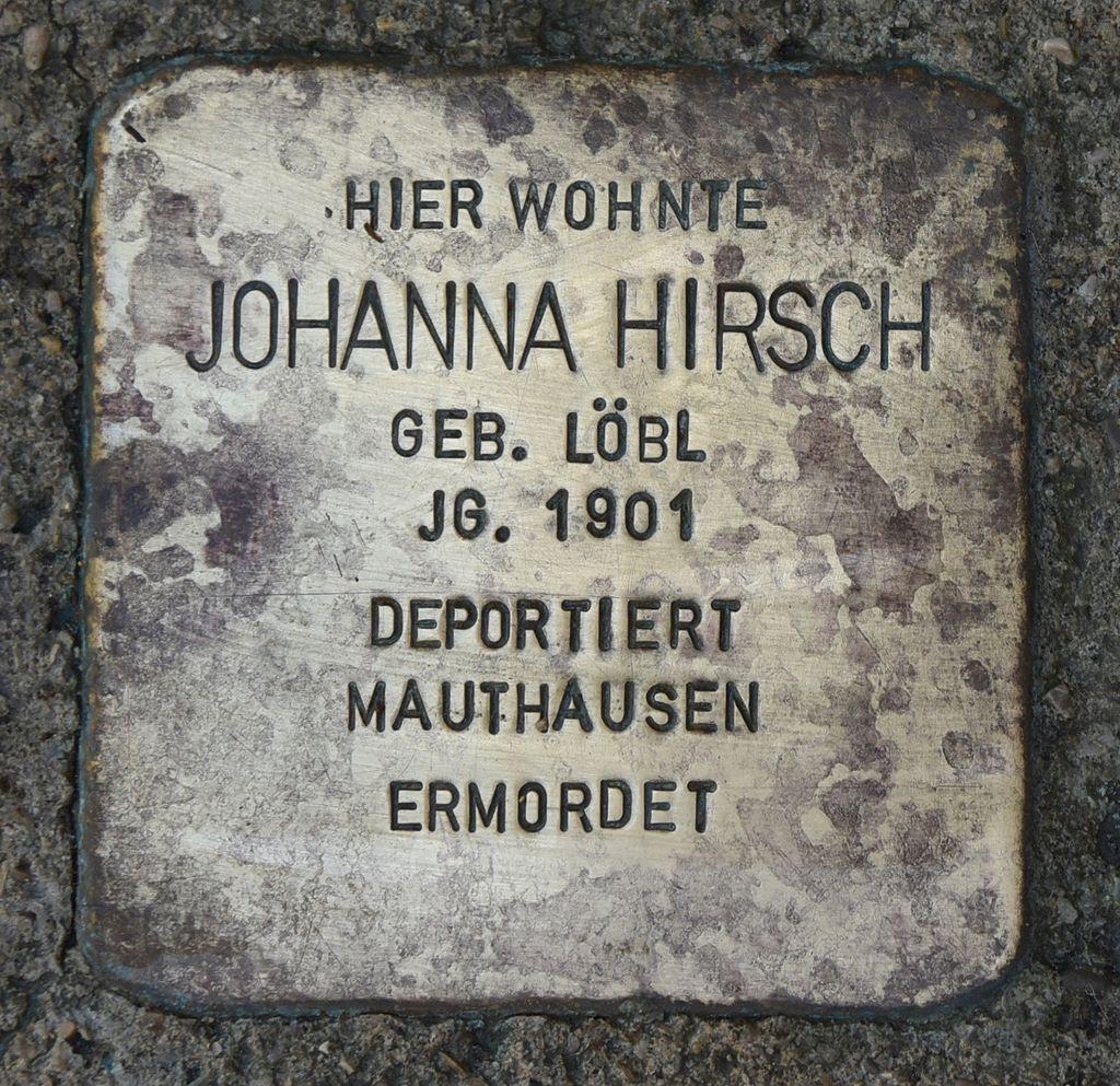Stolperstein für Johanna Hirsch.JPG