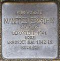 Stumbling stone for Manfred Eckstein (Im Weichserhof 8)