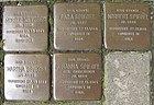 Stolpersteine für Moritz Metzger und Johanna, Martha, Norbert und Sara Spiegel