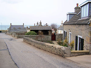 Lossiemouth - Stotfield houses on Tulloch's Brae