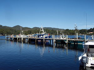 Strahan, Tasmania - Strahan port and fishing vessels