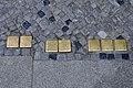 Stralsund, Ossenreyerstraße, Stolpersteine COHN, COHN, LESSER, LESSER, LESSER, COHN, COHN (2012-05-12), by Klugschnacker in Wikipdia bearbeitet-1.jpg