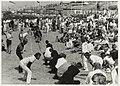 Strand bij Zandvoort kampioenschappen touwtrekken. NL-HlmNHA 54015605.JPG