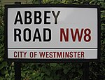 La plaque de la rue Abbey Road en 2006.