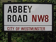 Street sign for Abbey Road, in Westminster, London, England IMG 1461.JPG