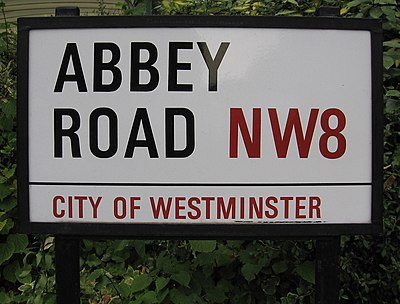 9869cf7bc20 Street signs in cities commonly include part of the postcode. Of all the  many Abbey