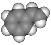 Бесцветная жидкость с резким запахом; tmn 145,2 С. Мономер в произ-ве полистирола, бутадиен-стирольных каучуков...