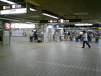 Nippombashi Station - entrance of subway Nippombashi Station