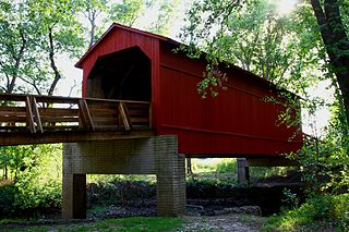 Sugar Creek Covered Bridge place in Illinois on the National Register of Historic Places