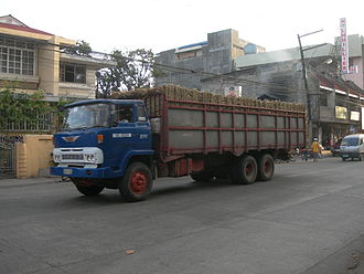 Sugar industry of the Philippines - Truck carrying sugar cane.