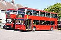 Sullivan Buses buses NV26 (N426 JBV) & DEL1 (PJ52 BYP), Felixstowe, 1 May 2011.jpg