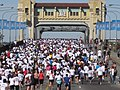 Sun Run 2010 - Burrard Bridge.JPG
