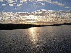 Sunset January 2008 at Clowbridge Reservoir - geograph.org.uk - 661883.jpg