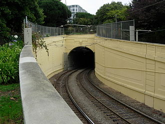 Sunset Tunnel - The western portal of the Sunset Tunnel