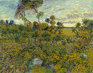Sunset at Montmajour - Image: Sunset at Montmajour 1888 Van Gogh