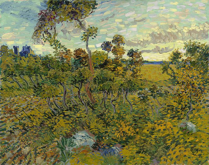 van gogh : Vie œuvre lettres à Théo  800px-Sunset_at_Montmajour_1888_Van_Gogh