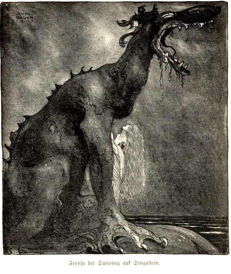 Svipdag transformed - John Bauer