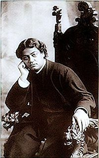 Image of Swami Vivekananda relaxing in a chair