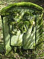 Symbolic portrait stone at Unthank graveyard - geograph.org.uk - 736785.jpg