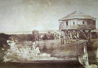 Battle of Oltenița - The Oltenița Quarantine in 1854