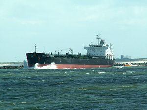 T.C. Gleisner - IMO 9293210 - Callsign LADN6 leaving Port of Rotterdam, Holland 06-Aug-2005.jpg