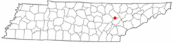 Location of Oakdale, Tennessee
