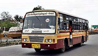 Tamil Nadu State Transport Corporation - An intra-city TNSTC bus serving Salem