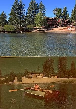 Tahoe Vista, California - Image: Tahoe Vista, 1946 & 2011