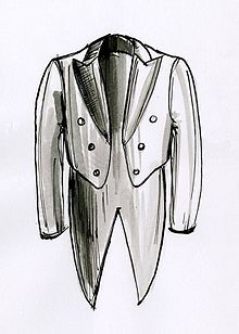 Tail coat weblio for Cartamodello papillon
