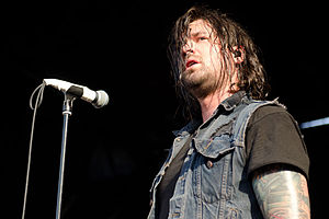 Taking Back Sunday - Vocalist Adam Lazzara performing with Taking Back Sunday on Warped Tour 2012