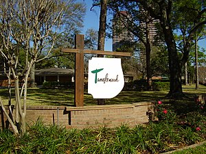 Tanglewood, Houston - A sign indicating Tanglewood