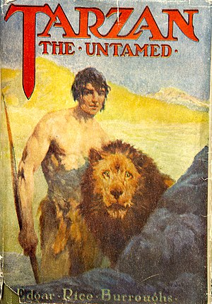 Tarzan the Untamed - Dust-jacket illustration of Tarzan the Untamed