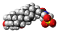 Taurocholic acid molecule spacefill.png