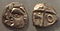 Tectosages coins Southern France 5 to 1st century BCE.jpg
