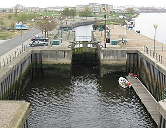 Tees Barrage - Tees barrage barge lock