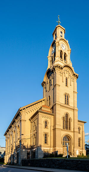 Pawtucket Congregational Church - Image: Temple of the Restoration, formerly Pawtucket Congregational Church 2