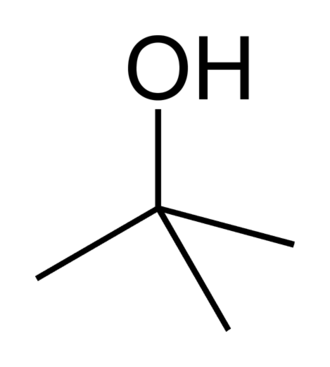 Tert-Butyl alcohol - Image: Tert butanol 2D skeletal