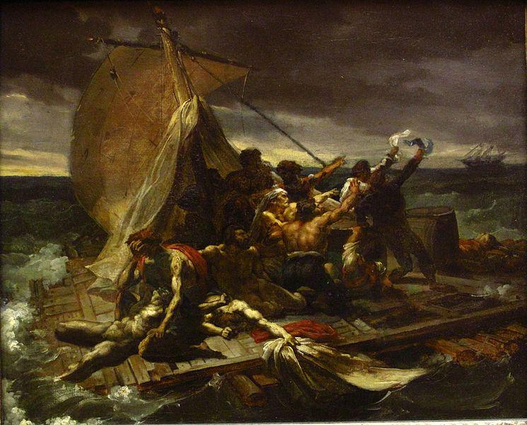 règle des tiers et points forts 745px-Théodore_Géricault_-_Le_Radeau_de_la_Méduse_esquisse_(salon_de_1819)