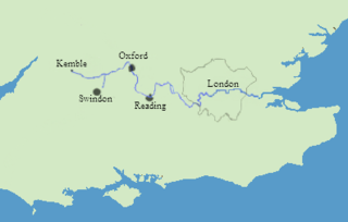Map Of Thames River Thames   Wikipedia