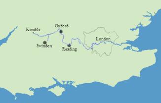 Karte des Themselaufs