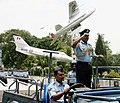 The Air Officer Commanding in Chief Western Air Command, IAF, Air Marshal Arup Raha being presented Ceremonial Guard of Honour on handing over of Command, in New Delhi on June 30, 2013.jpg