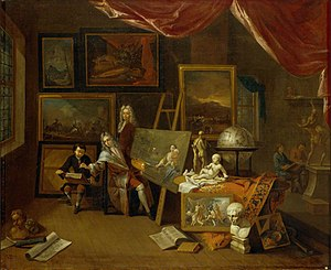 The Artist's Studio (Peter Tillemans in his pa...