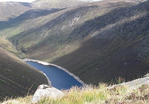 The Ben Crom Reservoir from the summit ride of Ben Crom