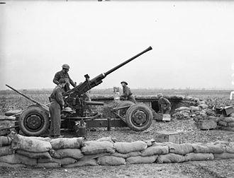 1st Devonshire Artillery Volunteers - Bofors gun of 152nd Bty, 51st (Devon) LAA Rgt in France, 13 November 1939
